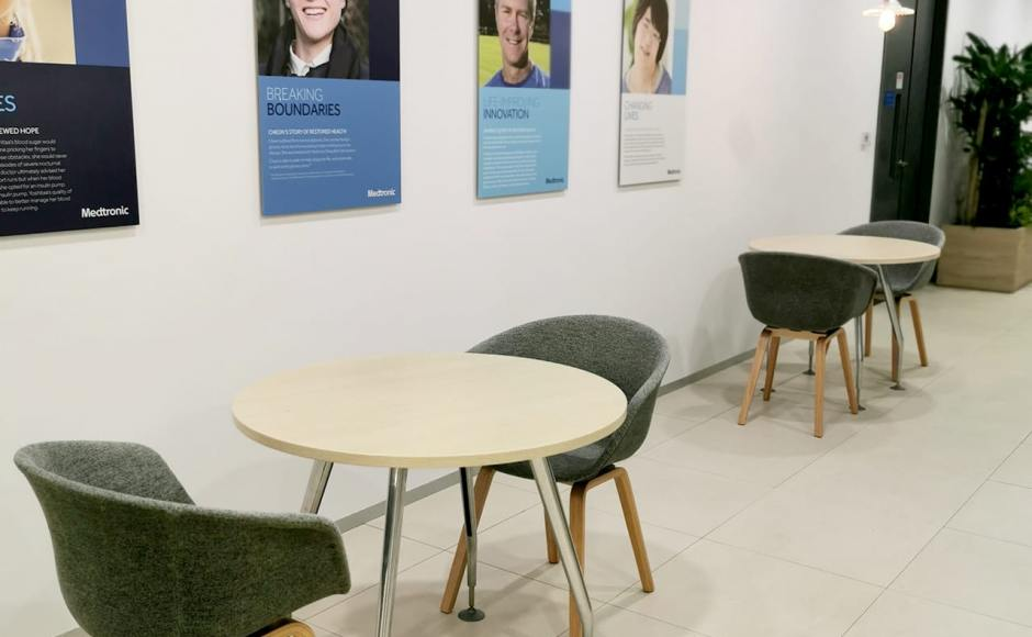 Covidien Private Limited - A Medtronic Company | Product Seen: [Tara Arm Chair – Fabric + Wood]