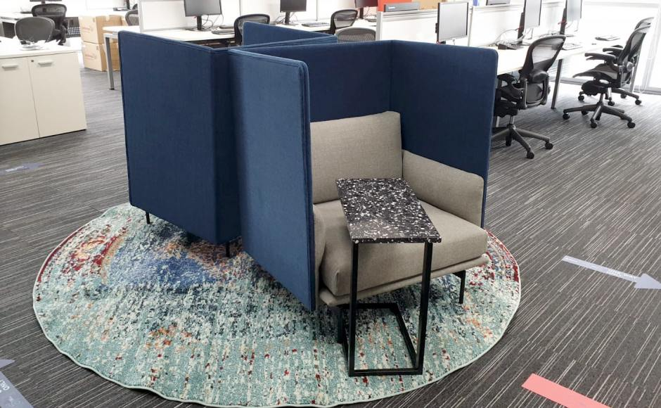 Cushman Wakefield - Church Street | Product Seen: [Terrazzo x Carrie Side Table & Kinpi 1–Seater Sofa – Highback]