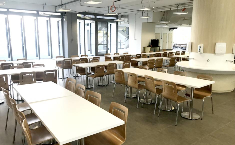 German European School Singapore | Product Seen: [Customised Laminate Tabletop + Traxtor Round Table Base & Brilliant-V1 Chair]