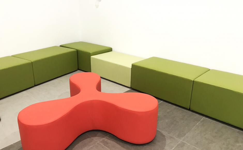 German European School Singapore | Product Seen: [Customised Pouf Rectangle & Fan Bench]