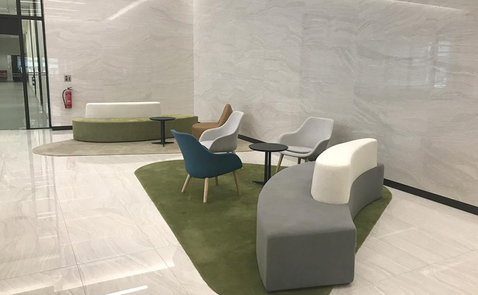 KA Centre - Kampong Ampat | Product Seen: [Sacco Lounger, Iris Coffee Table, Wave Modular Sofa – Right & Tabber Lounger]<br />