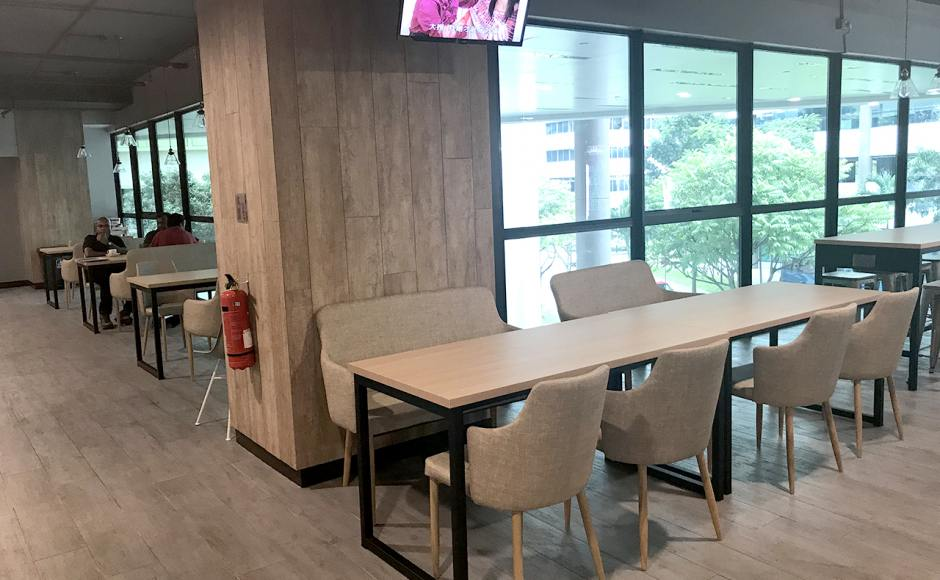 KA Centre - Kampong Ampat | Product Seen: [Customised laminated tabletop + Ricky Table Base – Customisable, Debbie Dining Bench & Corine Armchair]<br />