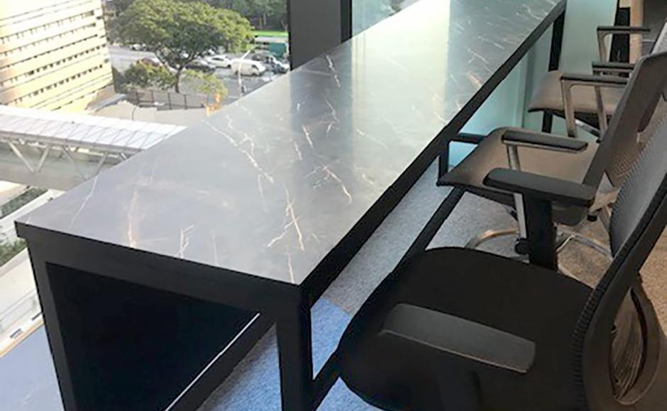Lendlease Singapore - Paya Lebar Square | Product Seen: [Decker Bar Table – Customisable]
