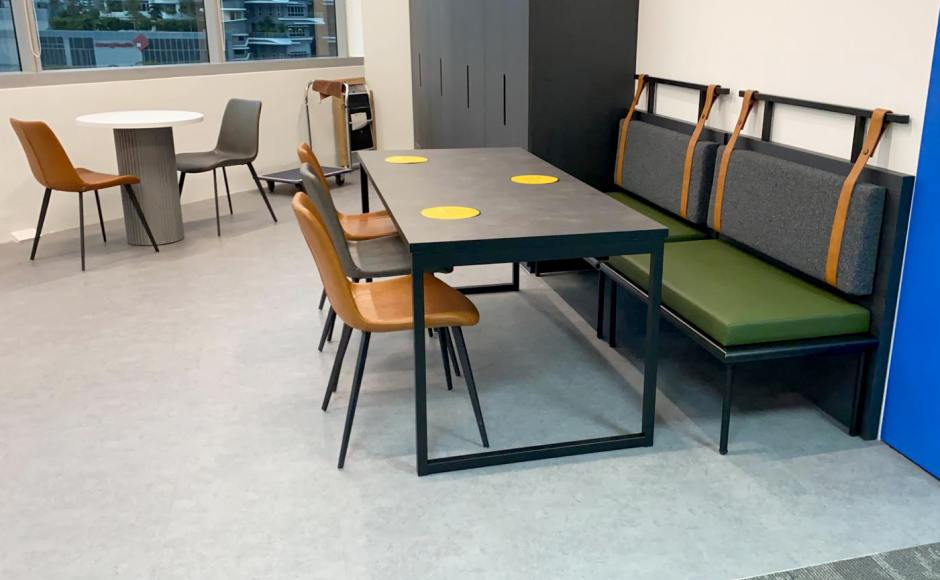 Mettler-Toledo | Product Seen: [Strap booth #2, Ricky Table Base – Customisable, Eunice Side chair & Customised x Ohio Dining Table]