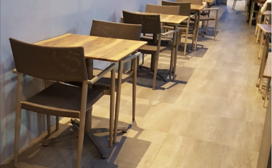 Park Avenue Hotel - Changi Business Park | Product Seen: [Grit Non-foldable Table Base & Isotop - Outdoor Table Top – Indian Rosewood colour]