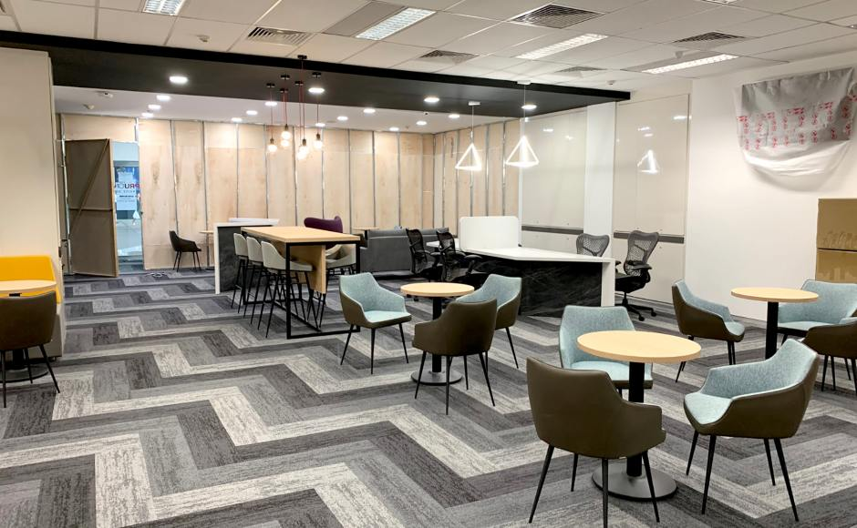 Prudential Assurance Company Singapore | Product Seen: [Tuscany Armchair, Brunella Barchair - SH750 & Customised Laminated tabletop + Cosson Table Base]