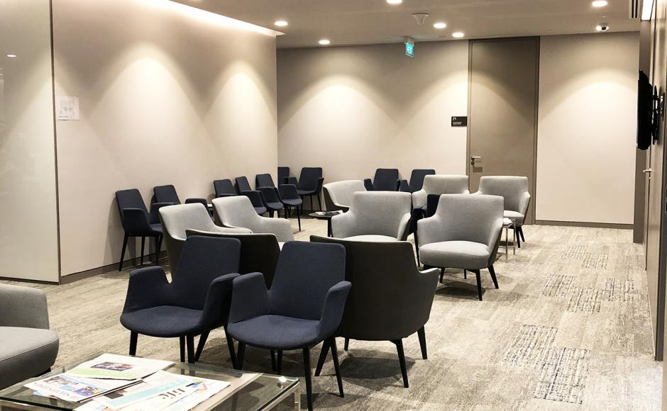 Raffles Hospital - Specialist Clinic | Product Seen: [Cullen 1–Seater Sofa & Fondue Armchair]