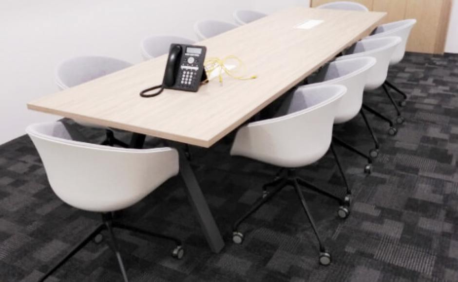 Regus Singapore | Product Seen: [Blot Castors - Half Upholstery & Apex Conference Table]