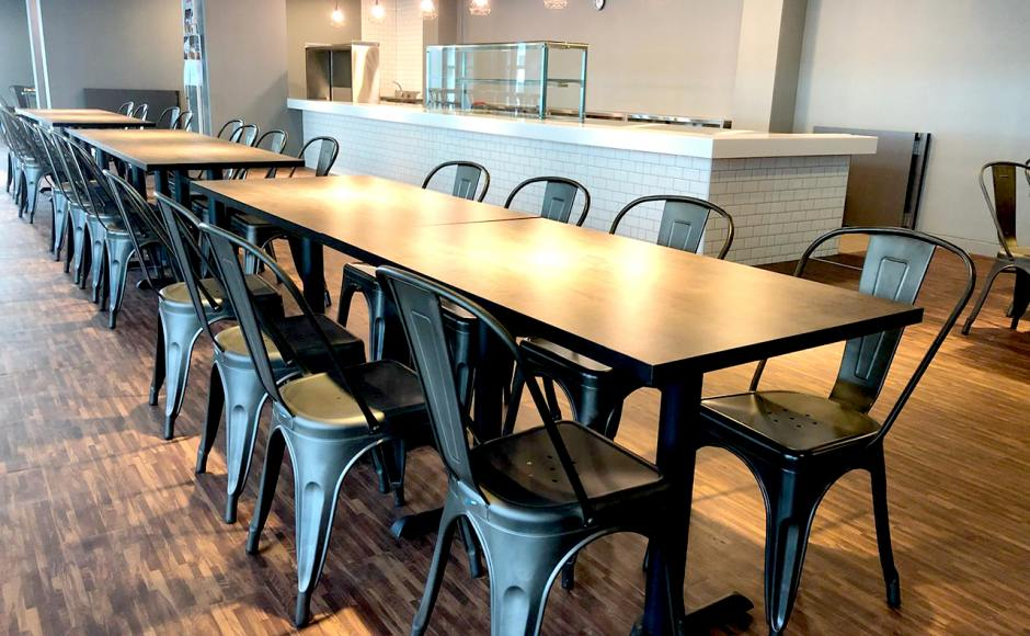 SATS Maintenance Centre - Changi North | Product Seen: Dojo Sidechair - Steel Customisable Laminated Tabletop + Filo Table Base - V2]