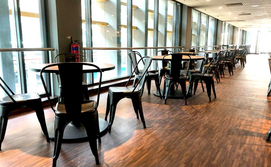 SATS Maintenance Centre - Changi North | Product Seen: Dojo Sidechair - Steel Customisable Laminated Tabletop + & Cosson Table Base]