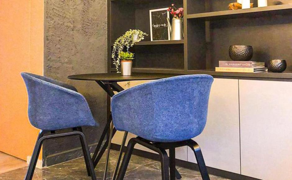 Singapore Facilitists - Toa Payoh | Product Seen: [Tara Arm Chair – Fabric + Wood & Haley Dining Table – Dia800]