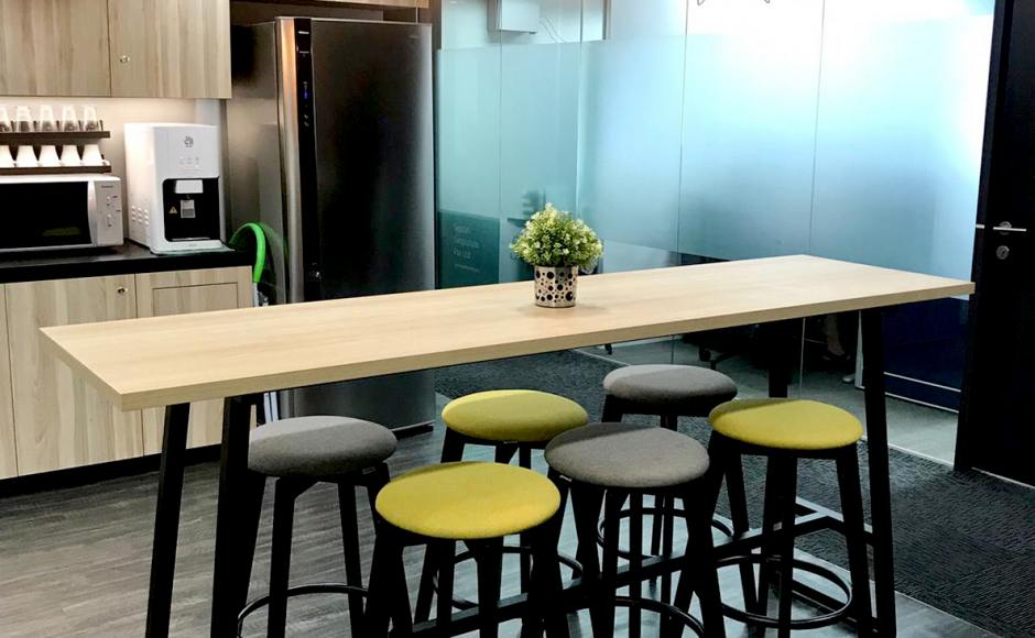 Verve Offices Pte Ltd - Cecil | Product Seen: [Obie Barstool & Anderson Bar Table – Customisable]