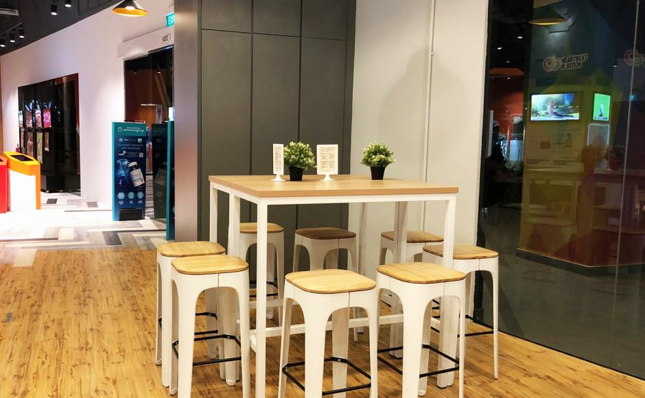 Watsons - Bedok Heartbeat | Product Seen: [Decker Bar Table – Customisable & Zashima Barstool]