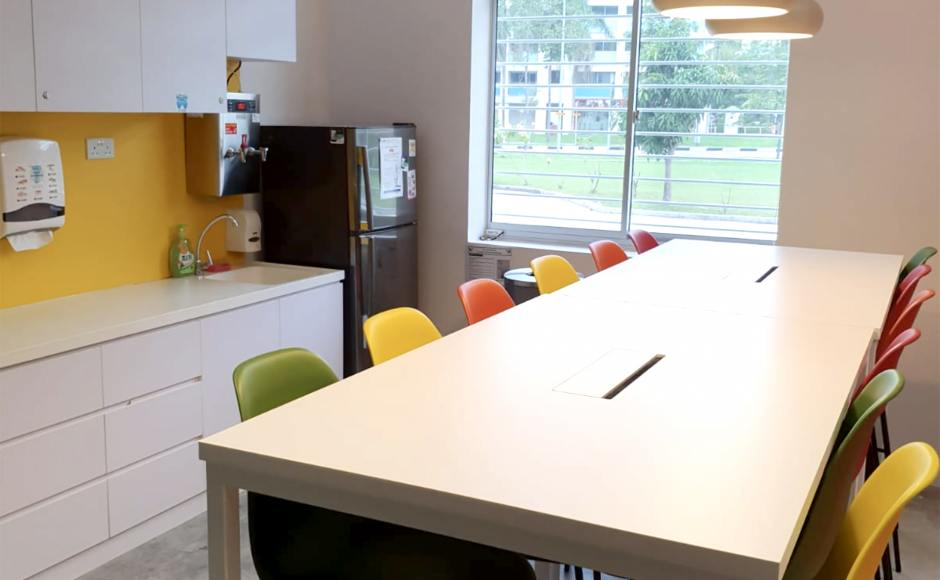 Woodlands Health Campus | Product Seen: [Argo – PP + 4-Leg Barchair & Decker Bar Table – Customisable]