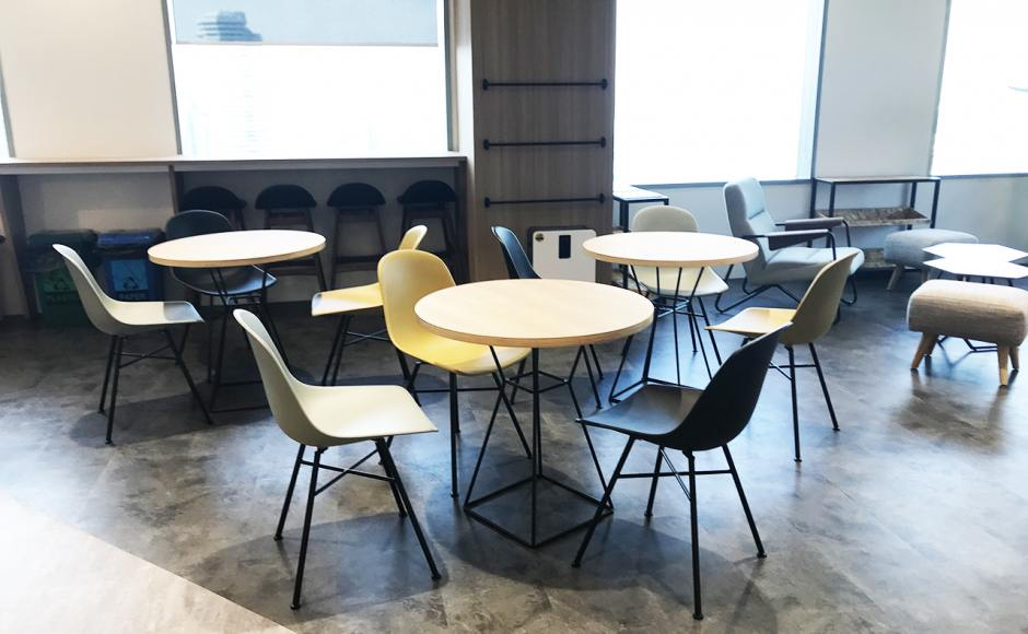 FWD Insurance Limited - Suntec Tower 4 | Product Seen: [Adik – Steel Chair & Customised Laminated Tabletop + Figure Leg]