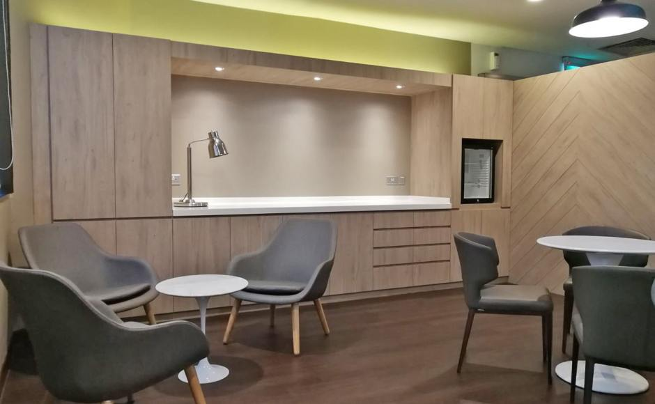 Gleneagles Hospital Staff Lounge - Napier Road | Product Seen: [Sacco Lounger, Megan Dining Table – Dia700, Tulip Side Table-Round Marble (replica) & Elephant Sidechair]