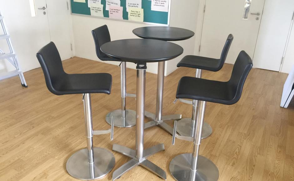 Saint Joseph's Institution International School | Product Seen: [Wesley Barstool & Alton Folding High Table – Round 600]<br />