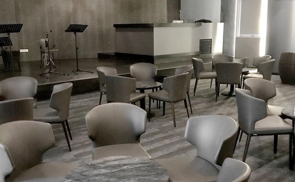 The Chevrons SAF Club – Lounge | Product Seen: [Elephant Sidechair & Cosson Table Base]<br />