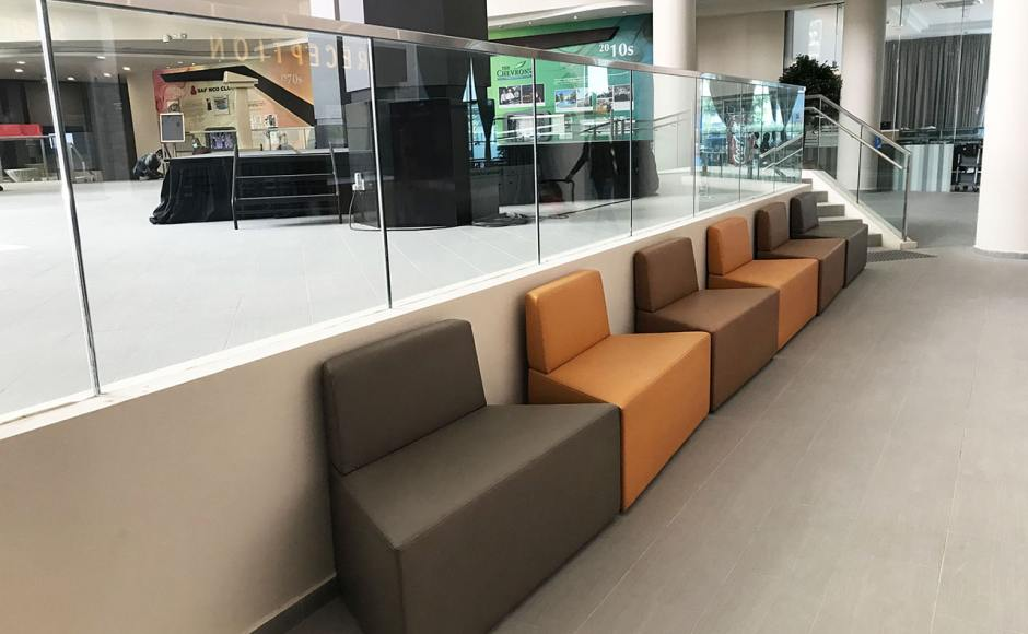 The Chevrons SAF Club – Reception | Product Seen: [Rio Trapezium Arm-less Sofa (Modular)]