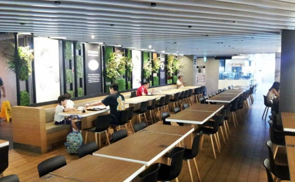 NTUC Foodfare - AMK Hub | Products seen: [Plug + Round Leg Chair & Customised Tables]