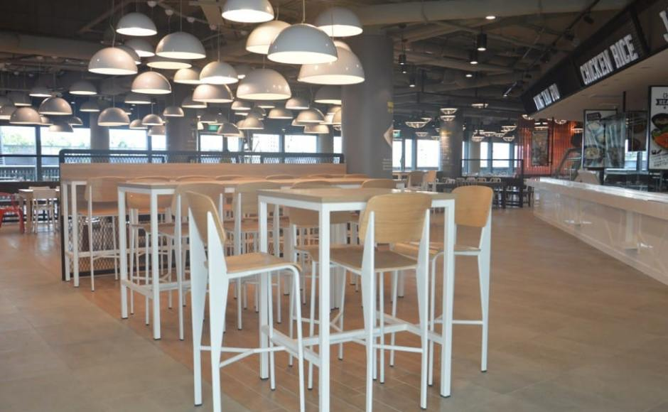 NTUC Foodfare - Singapore Sports Hub | Product(s) seen: [Index Barchair & Decker Bar Table – Customisable]<br />