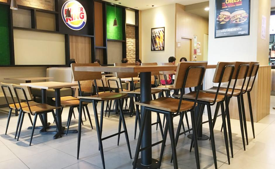 Burger King - Plaza Singapura | Product Seen: [Customised High Chair, Customised Laminate Tabletop + Filo Table Base, Customised Tabletop + Mounty High Table Base - Black, & Dojo Sidechair (No Wood)]<br />