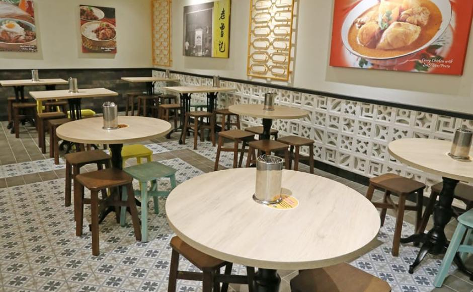 Curry Times by Old Chang Kee - Singpost Centre | Products Seen: [Tang Stool – Square & Vatican Table Base - H720 with Customised Tabletop]