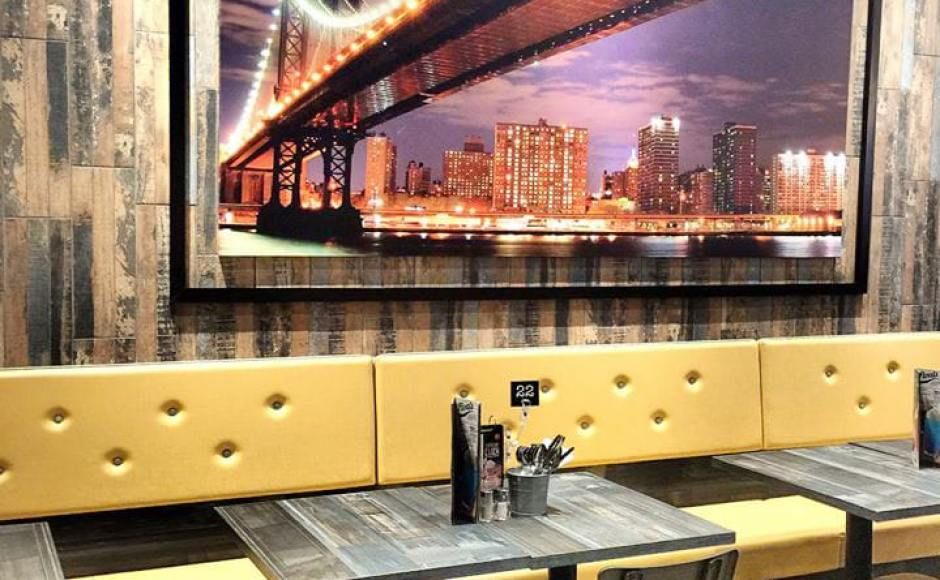 Manhattan Fish Market - Jurong Pointr | Product Seen: [Lick Chair – PU Seat & Customised Tabletop + Filo Table Base]