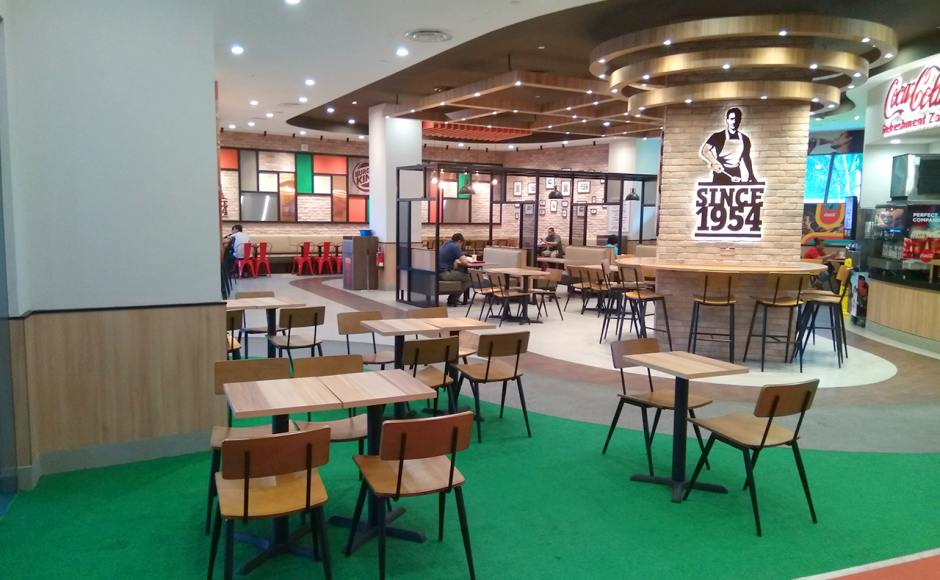 Burger King - Heart Beat Bedok | Product Seen: [Customised Side Chair, Customised High Chair, Customised Laminate Tabletop + Filo Table Base & Dojo Sidechair - Steel Seat]