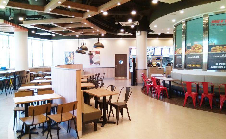 Burger King – Marsiling Mall | Product Seen: [Dojo Sidechair - Steel Seat & Customised Laminate Tabletop + Filo Table Base - V2]