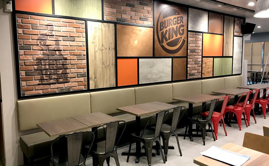 Burger King - Changi Airport Teminal 1 | Product Seen: [Leo Side Chair - Steel Seat & Customised Laminated Tabletop + Filo Table Base - V2]