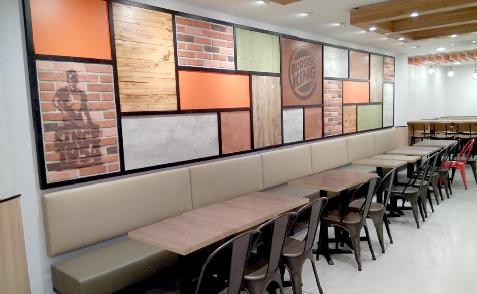 Burger King - Tampines Mall | Product Seen: [Leo Side Chair - Steel Seat & Customised Laminated Tabletop + Filo Table Base - V2]