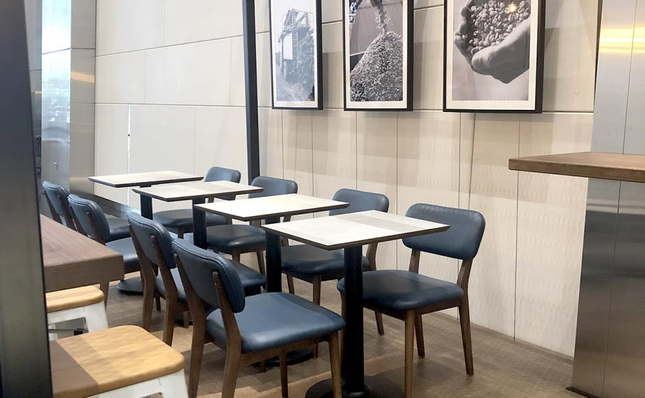 Dimbulah Coffee - Fraser Tower| Product Seen: [Leo Barstool SH750 – Wood Seat, Customised laminated tabletop + Cosson Table Base & Customised Furniture]