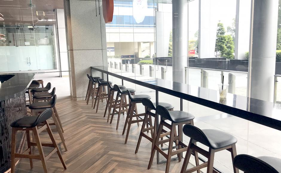 KLOUD Cafe - Keppel Bay Tower | Product Seen: [Jazz Barstool – SH750]