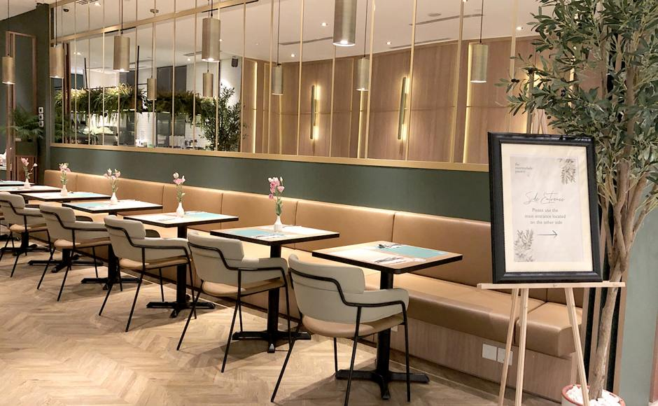 The Marmalade Pantry - ION Orchard | Product Seen: [Punch Arm chair & Customised laminated tabletop + Filo Table Base - V2]