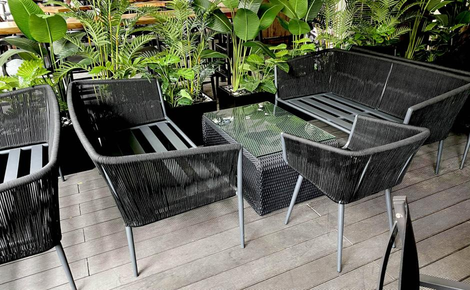 Tin Box the Live House - CHIJMES | Product Seen: [Jamaica Outdoor Armchair & Jamaica Outdoor 2–Seater Sofa]