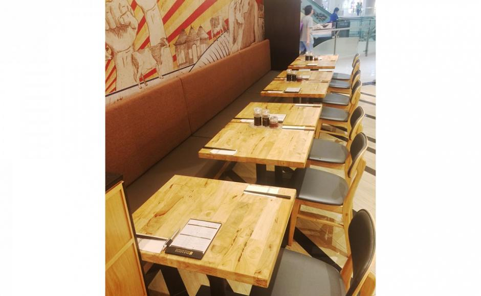 LeNu Taiwan Beef Noodles - Compass One | Product Seen: [Duxton Chair &amp; Customised Butcher Tabletop + Pyramid Table Base]<br />
