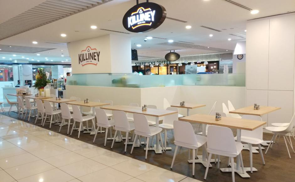 Killiney Cafe - Suntec City | Product Seen: [Troy Chair, Hopkins + 4P Chair & Customised Laminated Tabletop + Pattaya Table Base]
