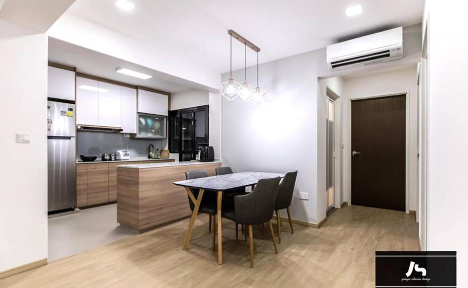 Apartment - Buangkok Link | Product Seen: [Corine Armchair & Hatsuro Dining Table– Customisable]