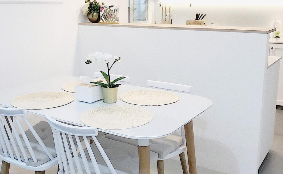 Apartment - IG @izzahhafiyah | Product Seen: [Norya Dining Table & Choyu Side Chair]