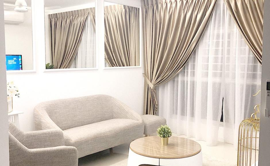 Apartment - IG @izzahhafiyah | Product Seen: [Winsland 2–Seater Sofa, Winsland Ottoman, Patrick Lounger & Zashima Coffee Table – Big]