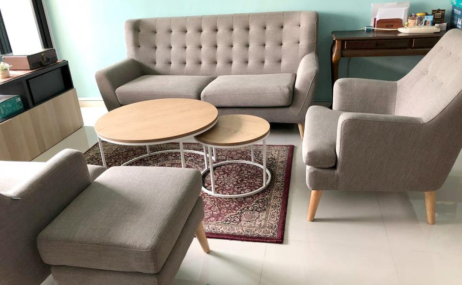 Apartment - Woodlands Drive | Product Seen: [Gaby 2-in-1 Coffee Table (Nestable), Shavick Lounger, Kayama 3–Seater Sofa & Kayama Ottoman]