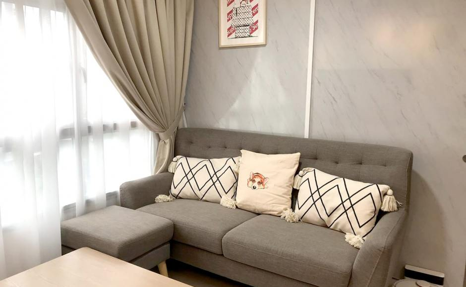 Bukit Batok West - HDB | Product Seen: [Kayama 3–Seater Sofa & Kayama Ottoman]