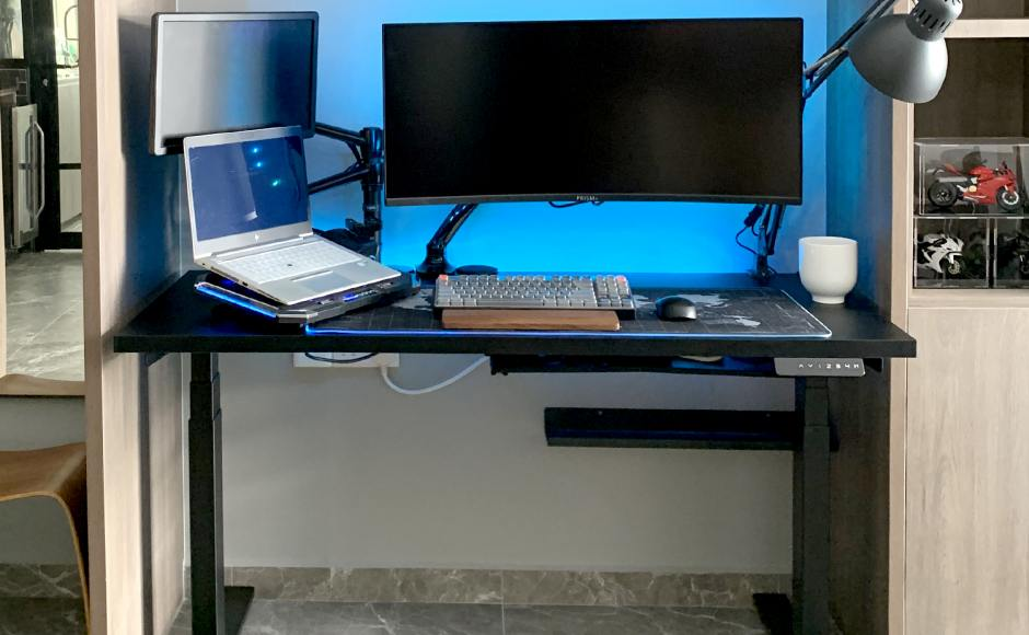 Home Office - Punggol Walk   Product Seen: [Tito 1-Sided Height Adjustable Table - W1200]