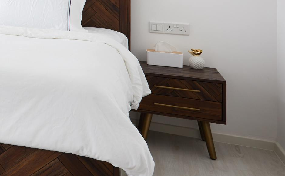 Modern Style Home - Telok Blangah Heights | Product Seen: [Xander Bedside Table]