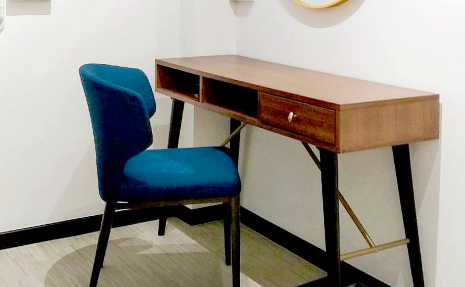 Project by Rosalind Interior Times | Product Seen: [Zeth Study Table & Elephant Halved-Arm Chair]