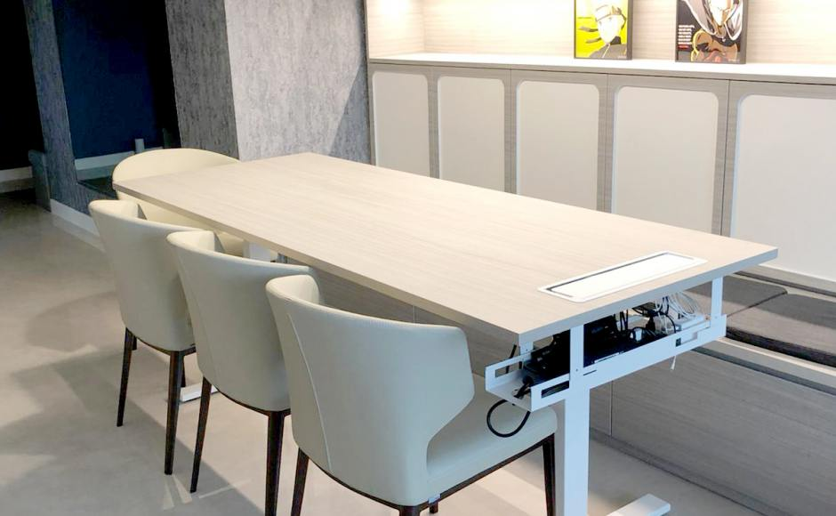Residence - Contemporary Modern | Products Seen: [Elephant Chair & Customised Tito 1-Sided Height Adjustable Table Leg]