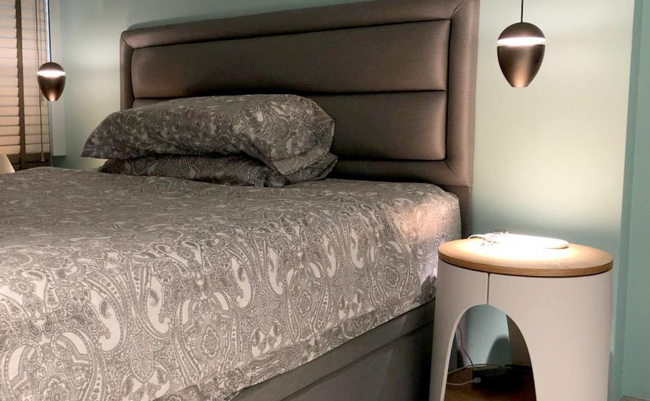 Residence - Contemporary Modern | Products Seen: [Zashima Bedside Table/ Coffee Table – Small]