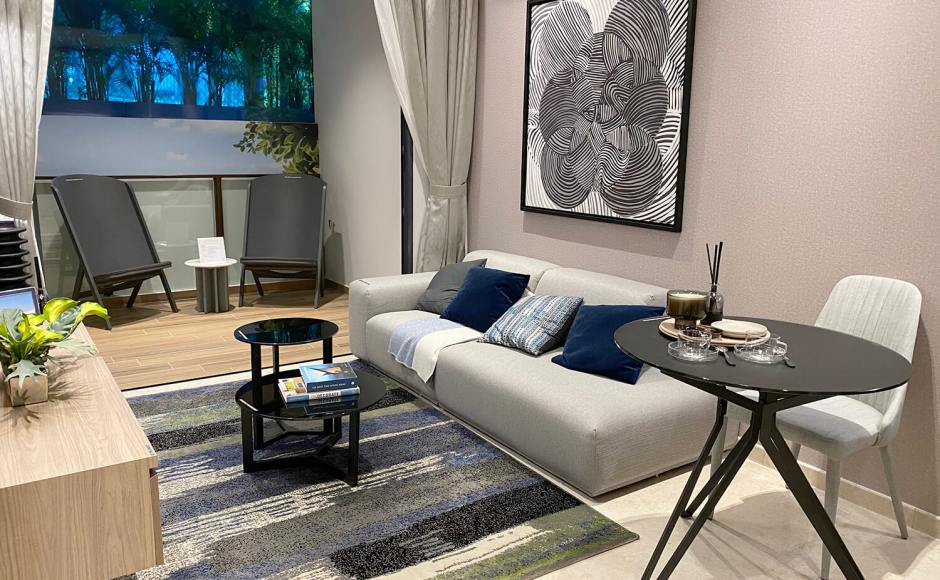 Urban Treasure – Showflat / Sales Gallery | Product Seen: [Haley Dining Table – Dia800, Lola Coffee Table – Big / Small]