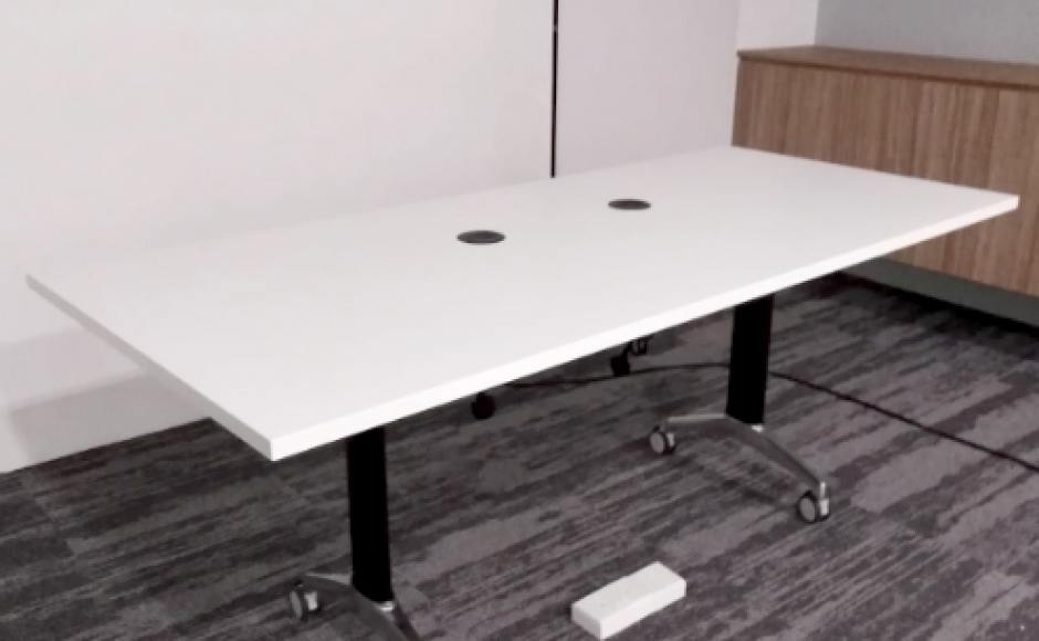 Softbank Robotics - Somerset | Product Seen: [Customised Boost Folding Seminar Table Leg (Nestable)]